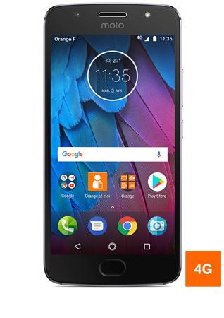 """Smartphone 5.2"""" Lenovo Moto G5S Gris - IPS Full HD, Snapdragon 430, RAM 3Go, 32Go (via ODR 50€)"""