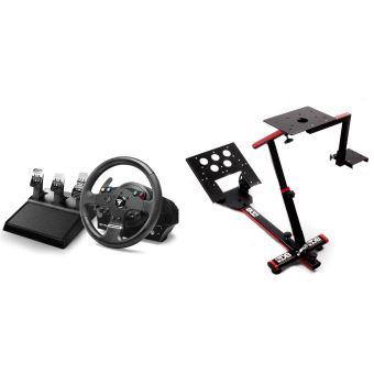 Set Volant de course + Pedales Thrustmaster TMX Pro pour Xbox One et PC + Support 69DB Wheel Stand Evo pour Volant, pédalier et boîte de vitesse