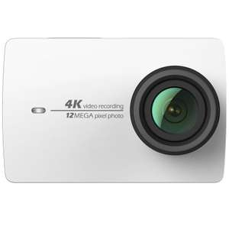 """Pack caméra sportive 2.2"""" Yi 4K (full HD, 12 Mpix, Wi-Fi, blanc) + batterie supplémentaire + étui de protection (vendeur tiers)"""