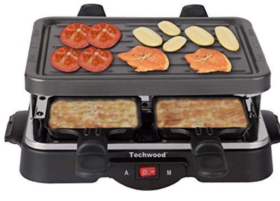 Appareil à Raclette Techwood TRA-44 pour 4 Personnes