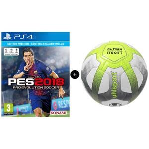 Pro Evolution Soccer 2018 Premium D1 Edition sur PS4 + Ballon de Football UhlSport Replica Elysia