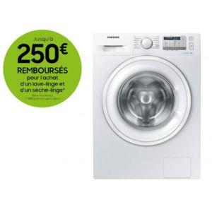 Lave Linge Samsung WW70J5555D A+++ Blanc - 7Kg, 1400 trs/min (Via ODR 30€)