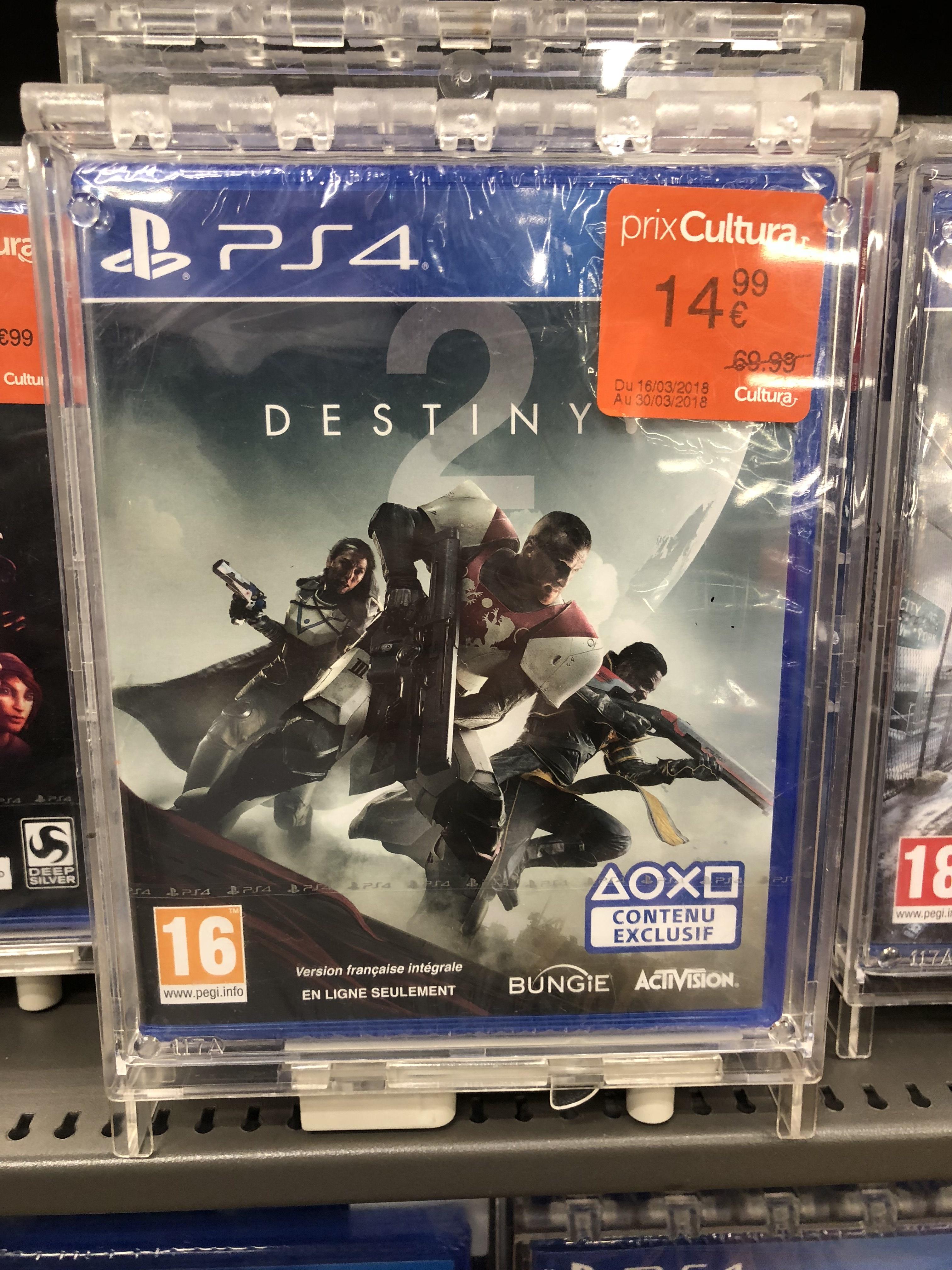 Jeu Destiny 2 sur PS4 ou Xbox One