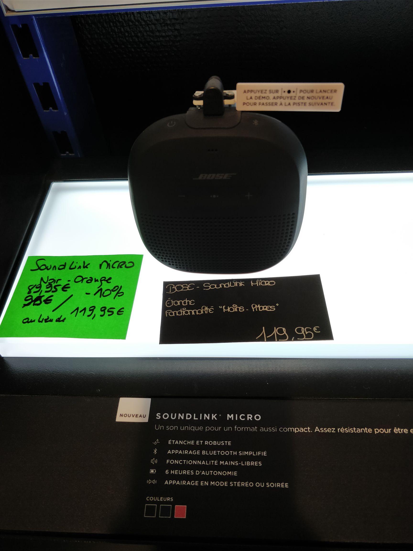 Enceinte Bluetooth Bose SoundLink Micro Waterproof (IPX7) - Strasbourg (67)