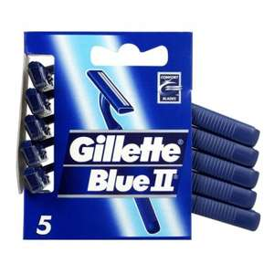 Lot de 5 paquets de 5 rasoirs jetables Gillette Blue II