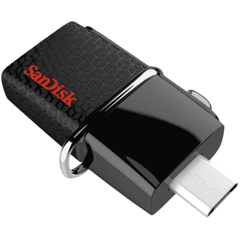 Clé USB 3.0 SanDisk Ultra Dual OTG (jusqu'à 150 Mo/s) - 64 Go