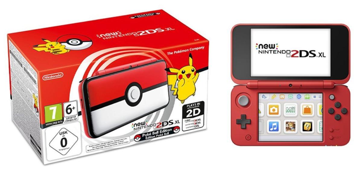 Console portable Nintendo New 2DS XL - Pokéball Edition