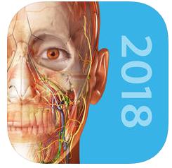Application Atlas d'anatomie humaine 2018sur iOS à 1,09€ et sur Android à 0,99€ (Au lieu de 27,99€)