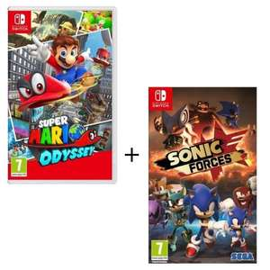Pack de 2 jeux Nintendo Switch : Super Mario Odyssey + Sonic Forces
