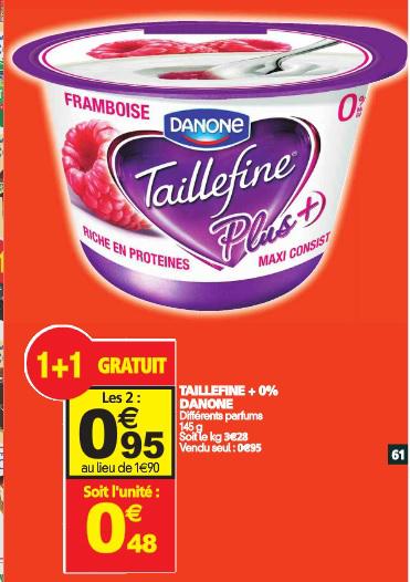 2 yaourts Taillefine Plus (via Shopmium + BDR)