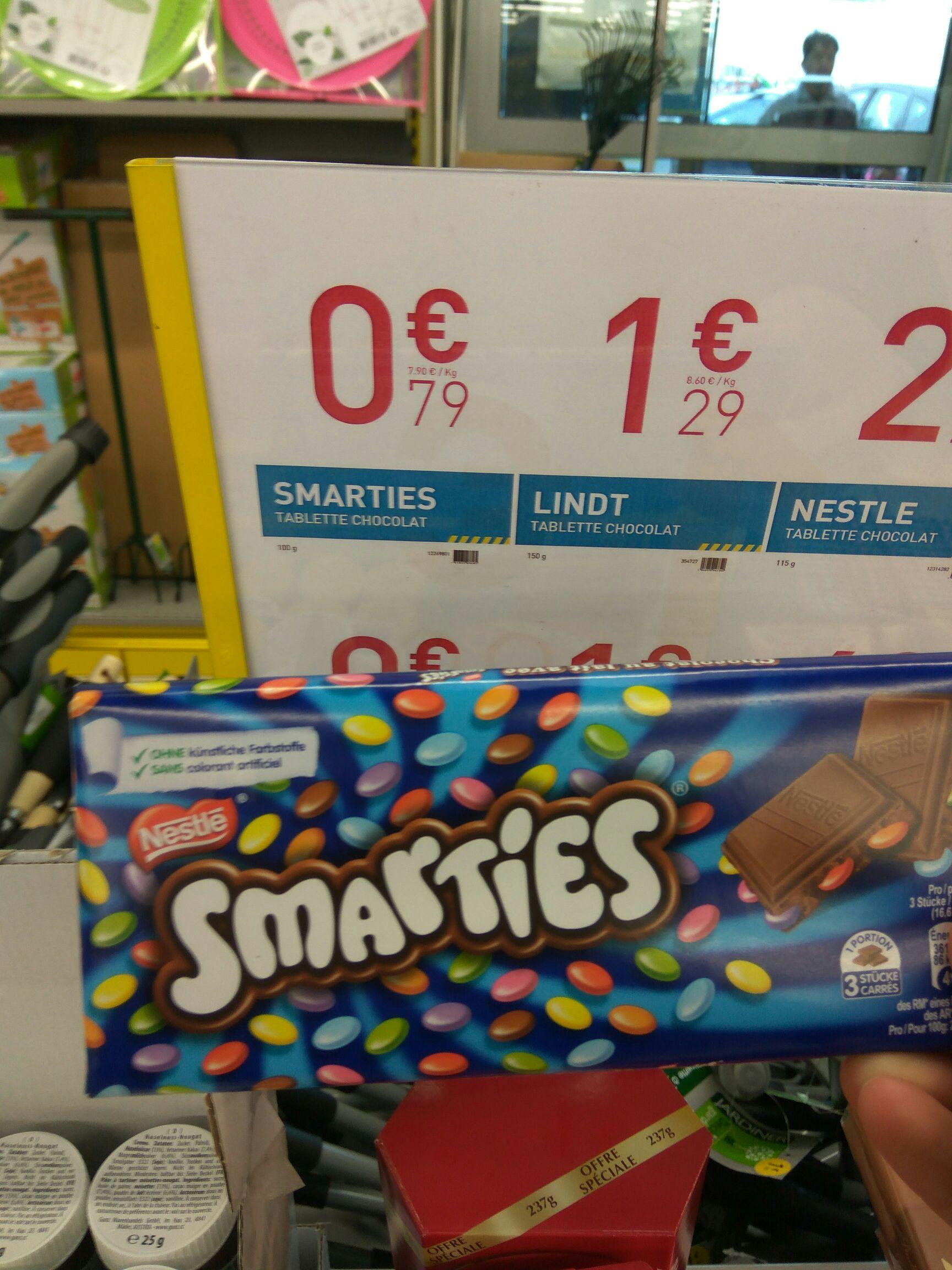 Tablette de chocolat Smarties - Sainte Geneviève des Bois (91)