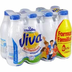 Lot de 8 bouteilles de lait viva  Candia 1L - (Givors (69) (via 3.50€ sur la carte)