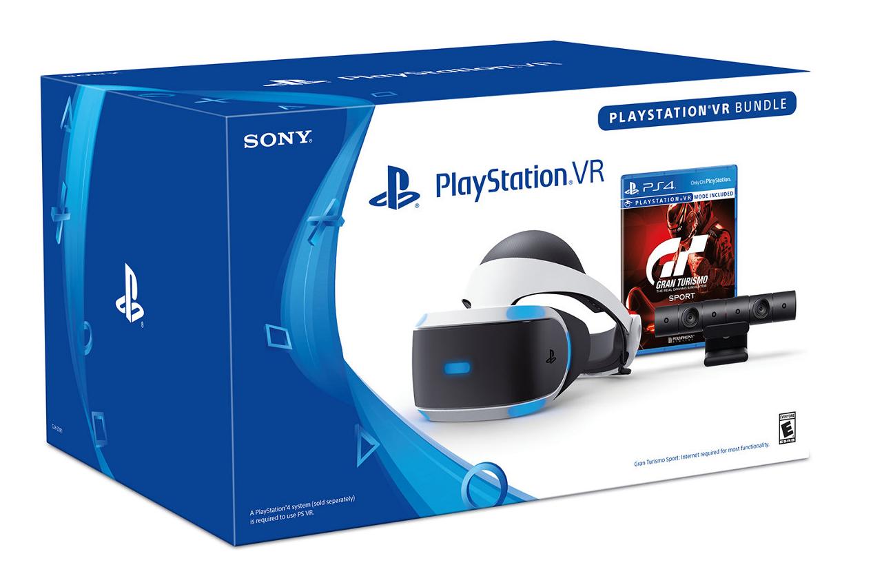 Casque de réalité virtuelle Playstation VR + Caméra + Gran Turismo Sport sur PS4
