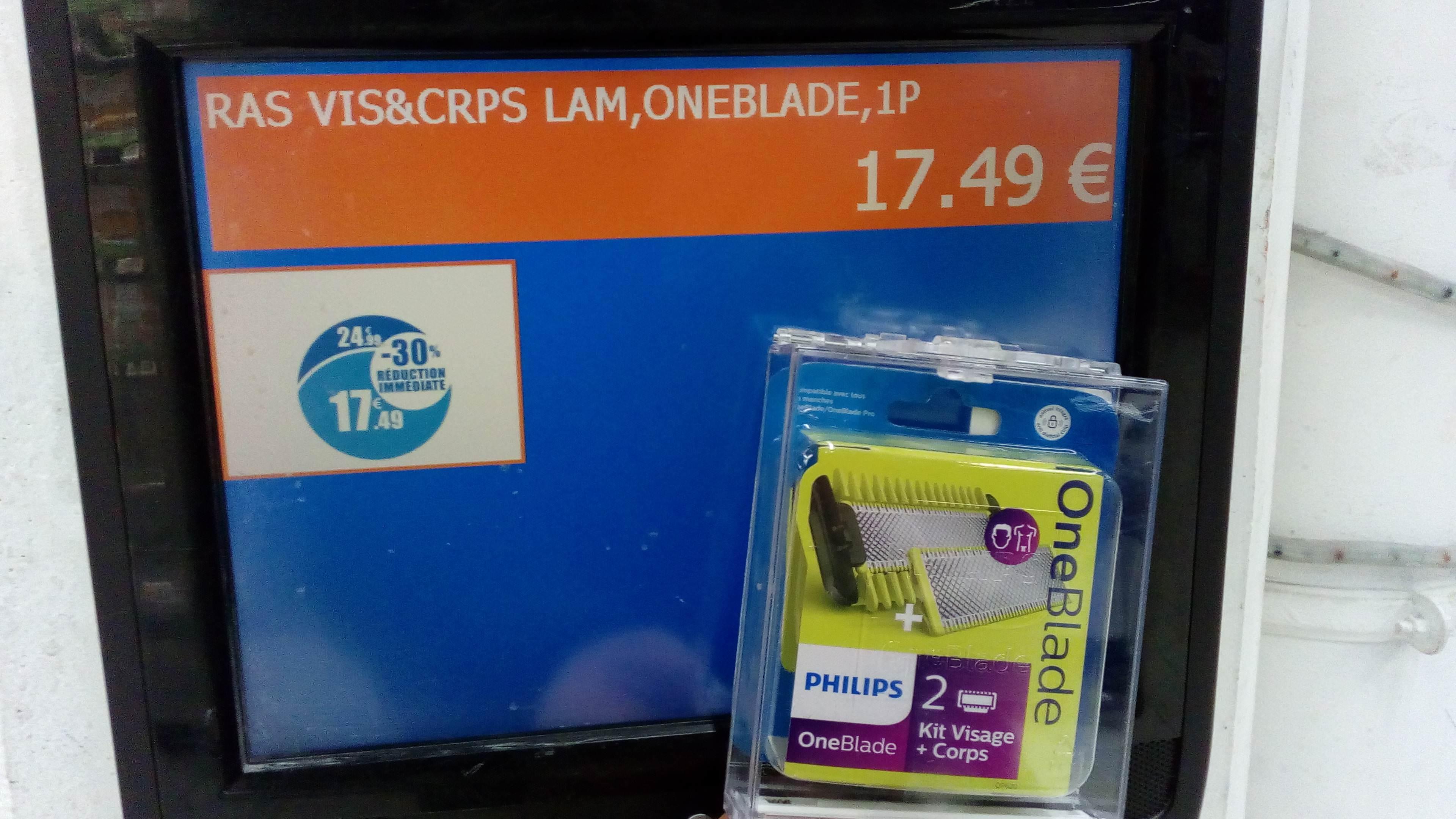 Pack de 2 lames Philips OneBlade Kit Corps et Visage - Morières-lès-Avignon (84)