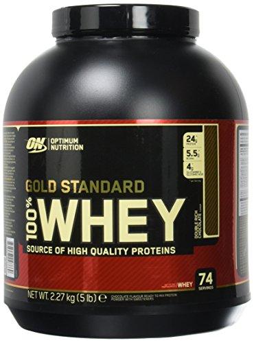 Boite de protéines Optimum nutrition - 100% Whey Gold Standard Protéine Chocolat - 2.27kg