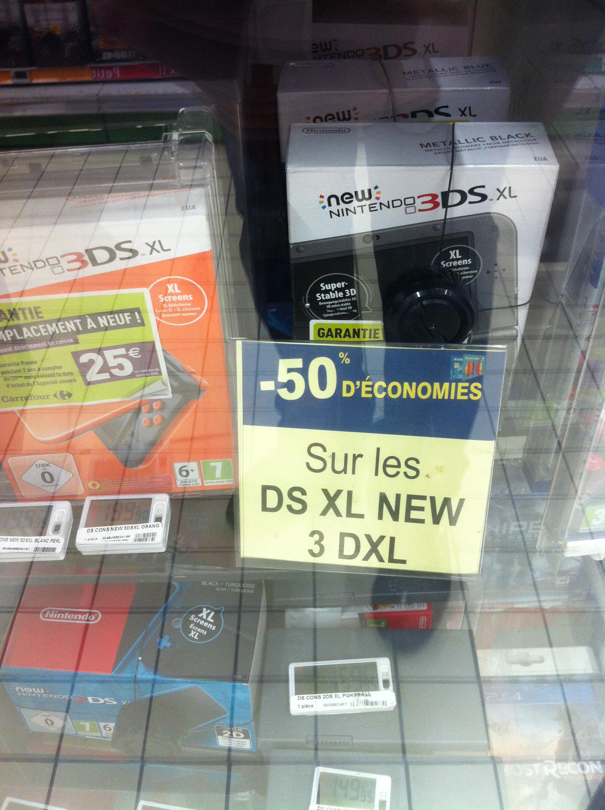 Console Nintendo New 3DS XL (via 99.98€ sur la carte fidélité) - Montereau (77)