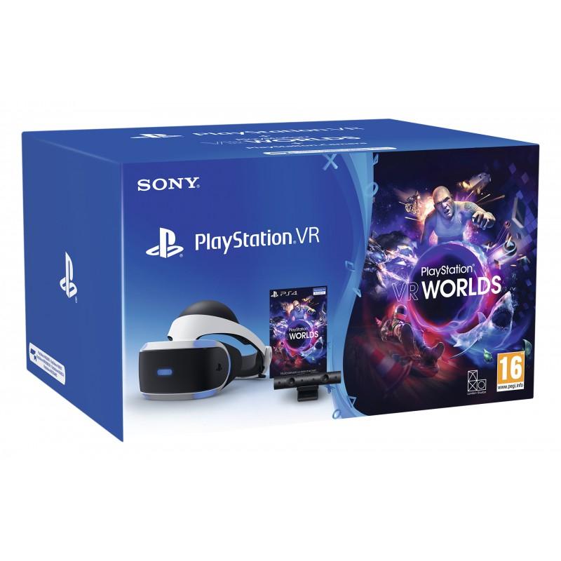 Casque de réalité virtuelle Sony PlayStation VR V2+ Caméra PlayStation V2 + VR Worlds + Jeu au choix parmi la sélection