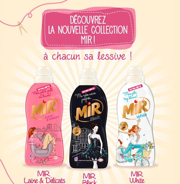 3 flacons de lessive Mir Laine, White et Black pour 1.60€  (via shopmium + BDR)