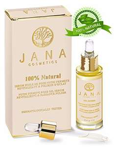 Flacon d'huile de rose anti-rides Jana Cosmetics - 30 ml (vendeur tiers)