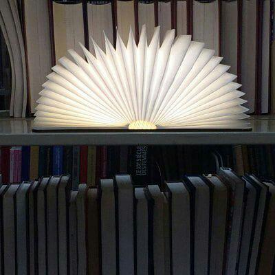 Lampe LED USB en forme de livre
