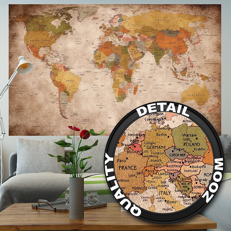 Décoration murale XXL Carte du monde - 140 x 100cm (vendeur tiers)