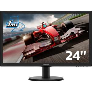 "Ecran PC 24"" Philips 243V5LHSB - Full HD, Dalle TN, 1 ms"