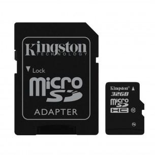 Sélection de cartes microSDHC 32 Go Classe 10 - Ex : Kingston avec adaptateur
