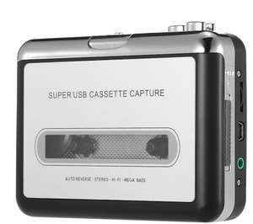 Convertisseur / lecteur audio cassettes vers USB (Mp3) Ezcap - Ecouteurs fournis