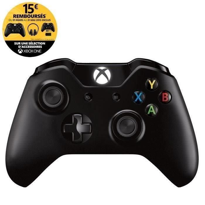 Manette Sans Fil Noire Xbox One (avec ODR 15€)