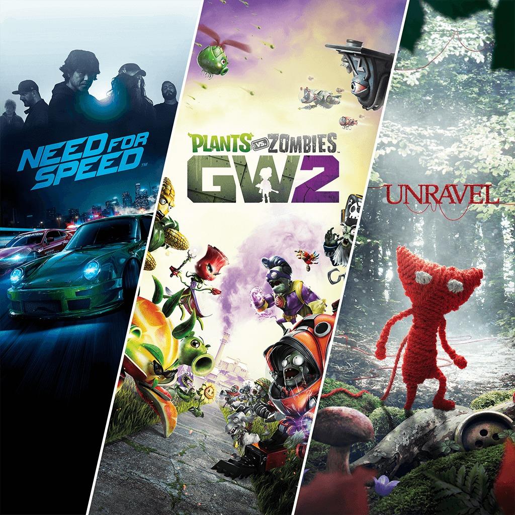 Sélection de jeux en promotion - Ex: Pack Famille EA: Unravel + Plants vs. Zombies Garden Warfare 2 + Need For Speed sur PC (Dématérialisé)