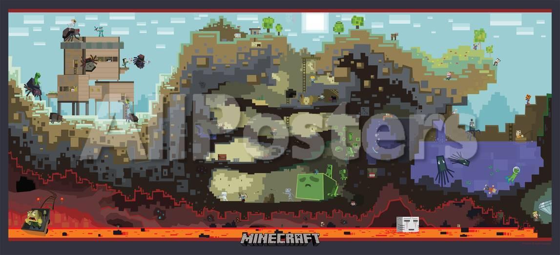 Jusqu'à 90% de réduction sur une sélection de posters - Ex : Minecraft, Scène du Jeu Vidéo