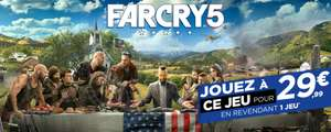 Far Cry 5 sur Xbox One ou PS4 (via reprise d'un jeu sur la liste)