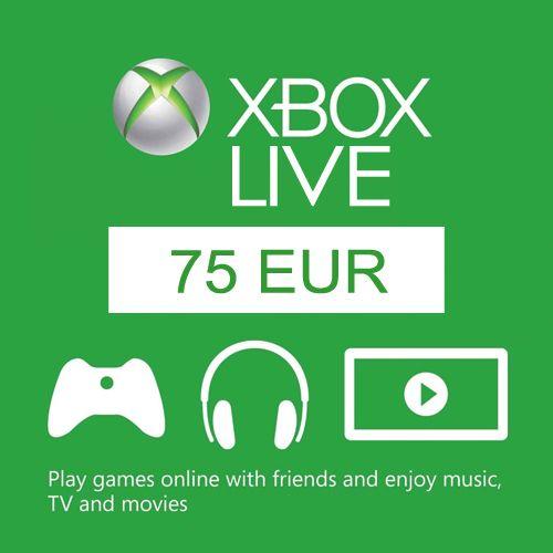Carte cadeau Xbox Live Europe 75€