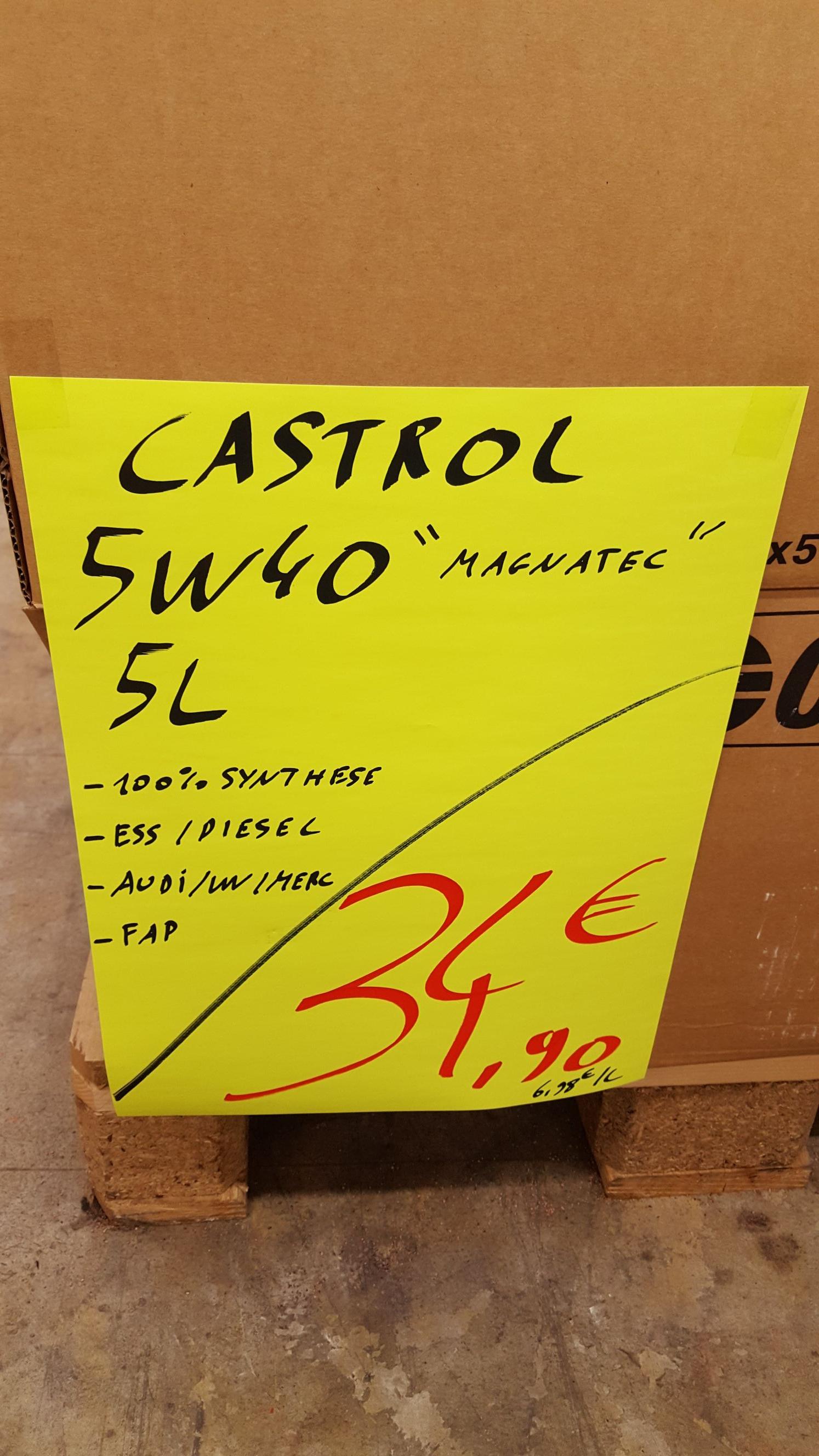 Bidon d'Huile Castrol 5w40 Magnatec - Carter Cash Saran (45)