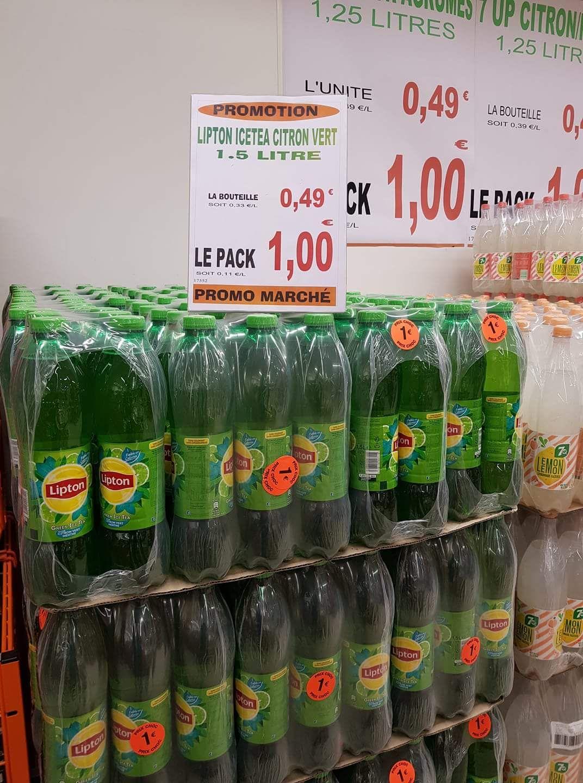 Pack de Bouteilles de Lipton IceTea - 6x1.5L, Promo marché Reims (51)
