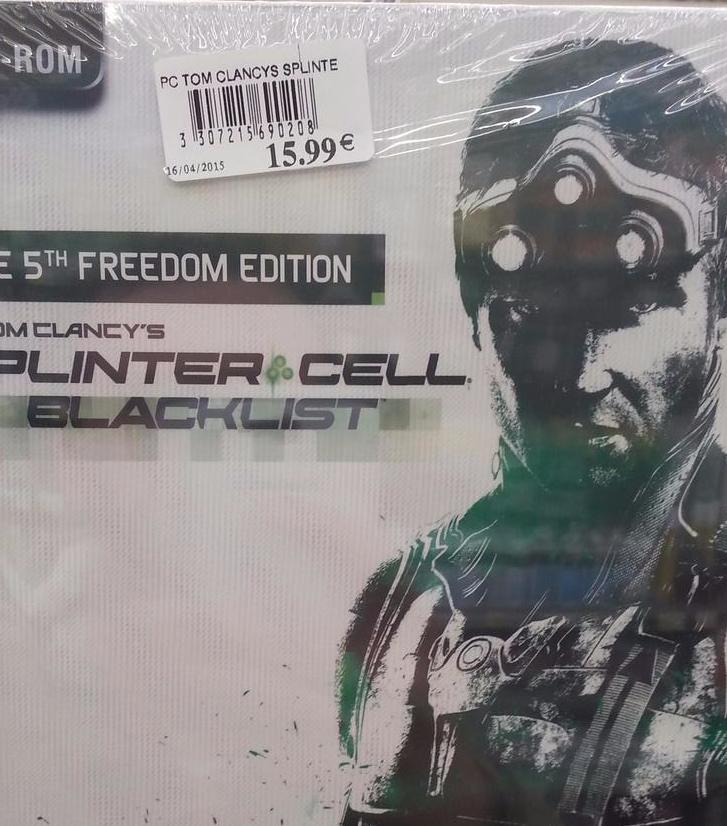 Jeu (PC) Splinter Cell Blacklist freedom édition