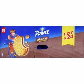 Lot de 24 Sachets de Gâteaux Prince de Lu Goût Chocolat - 300g (Via 18.2€ sur la carte de fidélité) - Givors (69)
