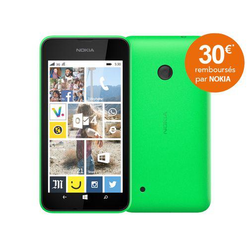 "Smartphone 4"" Lumia 530 vert (ODR 30€)"