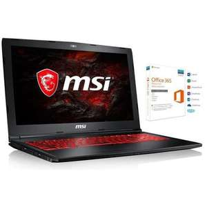 "PC Portable 15.6"" MSI GL62M 7REX-2056XFR - Full HD, i5-7300HQ, 8 Go de Ram, 1To, GeForce GTX 1050 TI + Sac à dos, Sans OS"