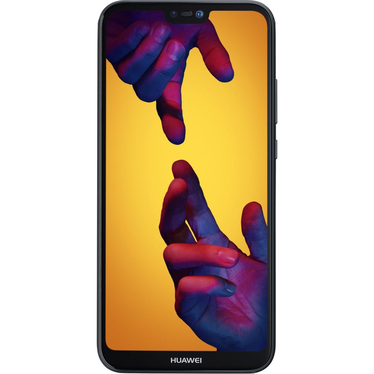 """Smartphone 5,8"""" Huawei P20 Lite - Double SIM, ROM 64 Go, RAM 4Go - Noir (50€ de réduction via reprise de votre ancien téléphone)"""