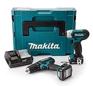 Kit Makita CLX202AJ + Visseuse brushless 10.8V avec 2 batteries