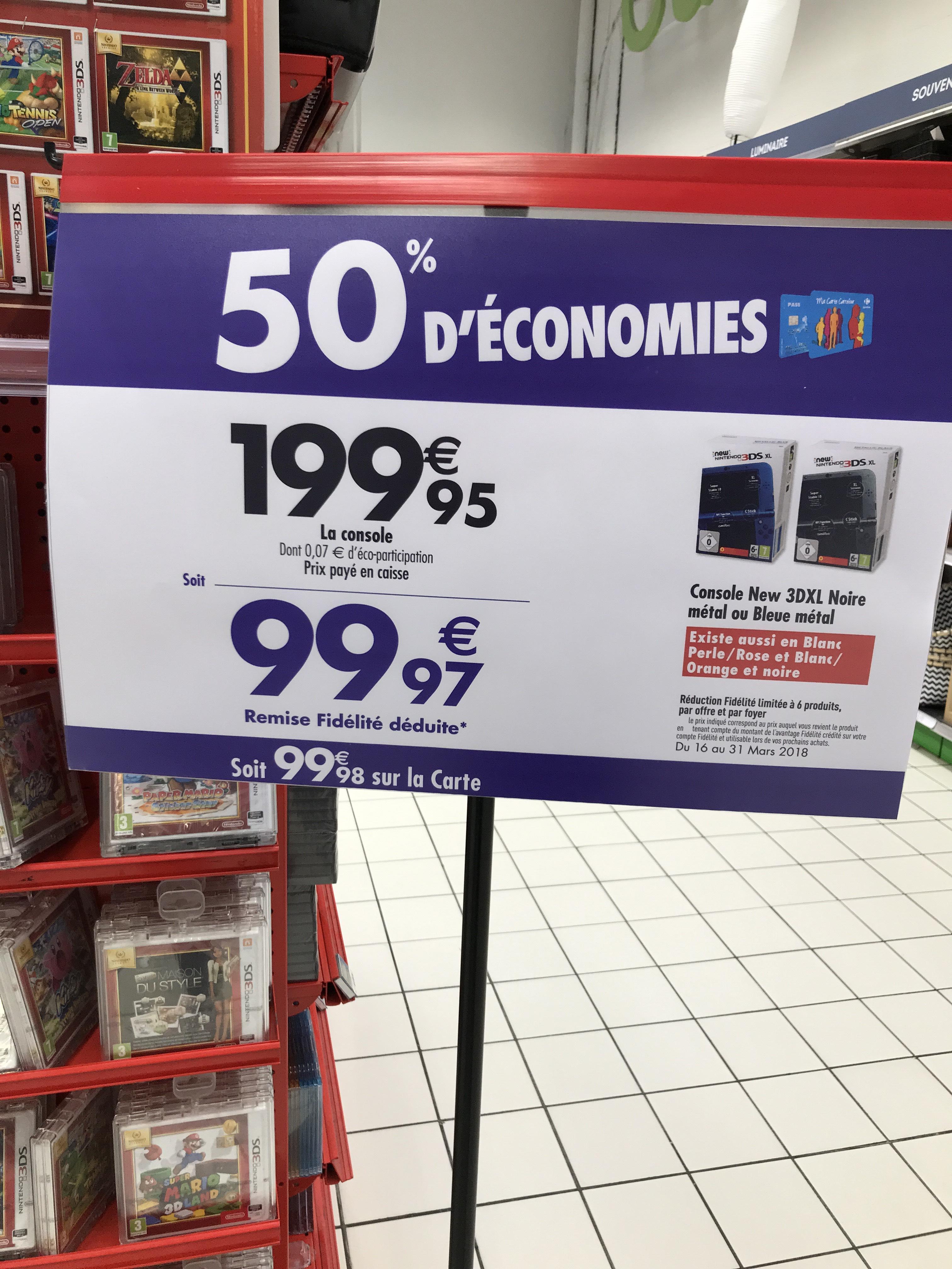 Console Nintendo New 3DS XL (via 99.98€ sur la carte fidélité) - (Gennevilliers 92)