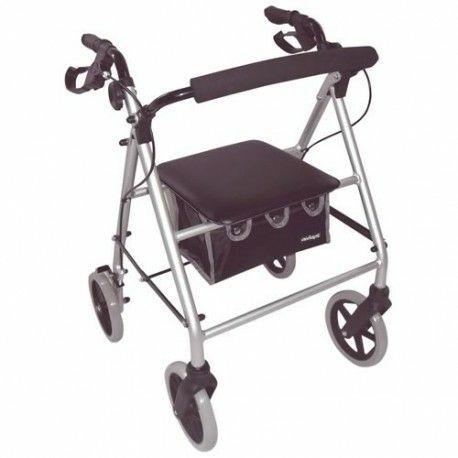 Déambulateur 4 roues compact et léger avec sac