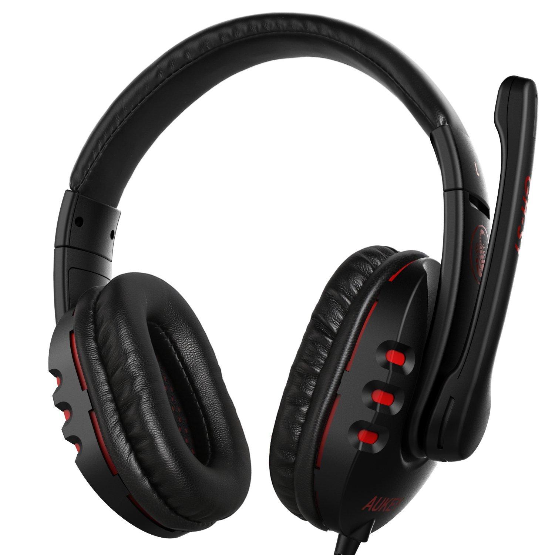 Casque audio Aukey GH-S1 - noir / rouge (vendeur tiers)