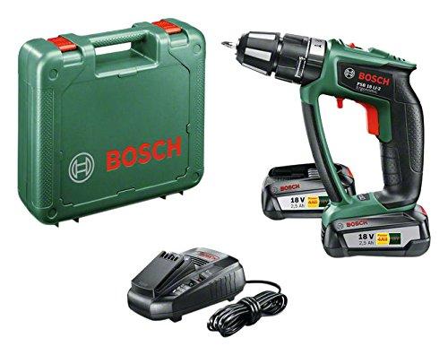 Perceuse-visseuse à percussion Bosch Expert PSB 18 LI-2 Ergonomic 2 batteries 18V 2,5 Ah