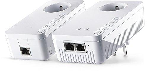 Kit démarrage: Prise Réseau CPL Wi-Fi Devolo 9391 dLAN 1200+ - 2 Adaptateurs, 2 Ports Gigabit Ethernet