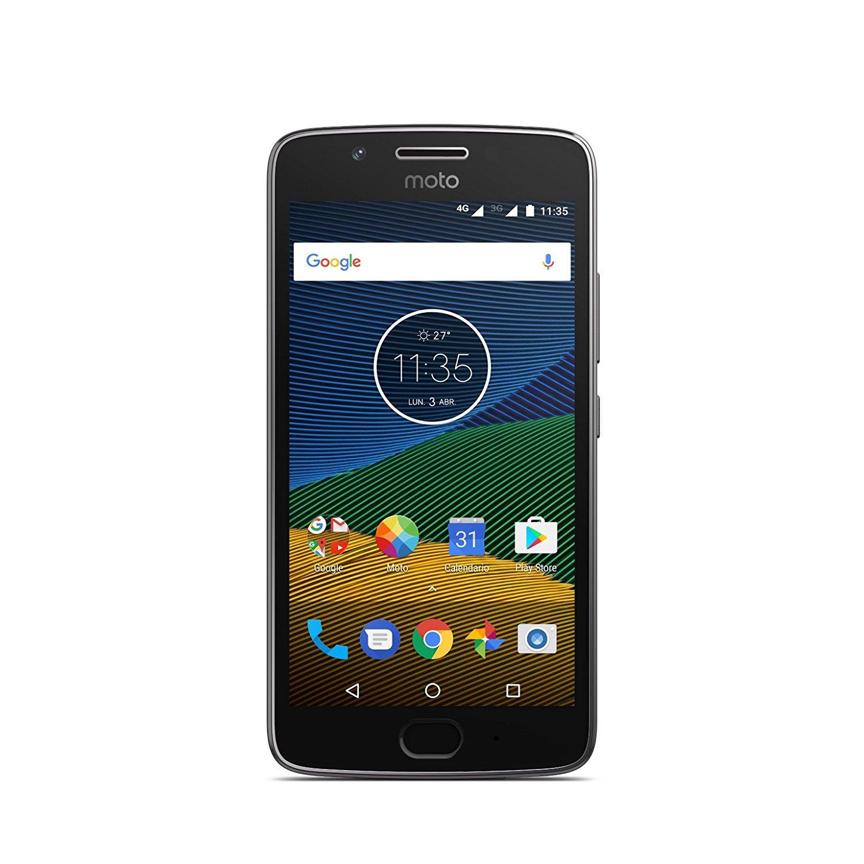"""Smartphone 5"""" Lenovo Moto G5 - 16Go ROM, 3Go RAM, Dual sim"""