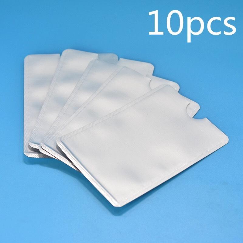 Lot de 10 protège carte bancaire sans contact RFID