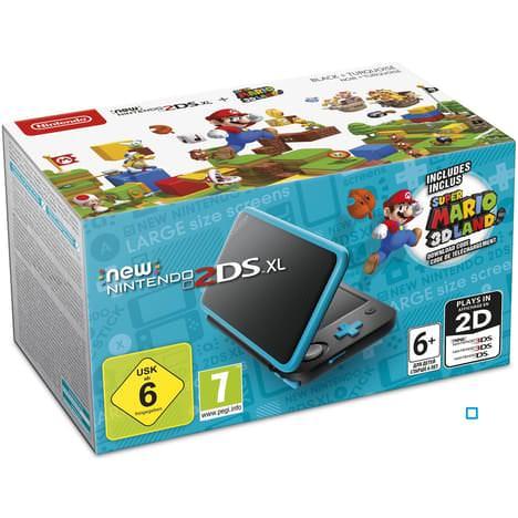 Sélection de Consoles New 2DS XL + 1 Jeu offert parmis une sélection - Ex : New Nintendo 2DS XL Console Black / Turquoise + Super Mario + Détective Pikachu