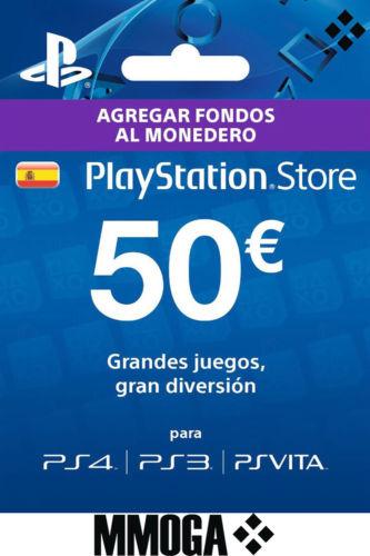 Carte Sony PlayStation Store de 50€ (Compte PSN Espagnol - Dématérialisé)